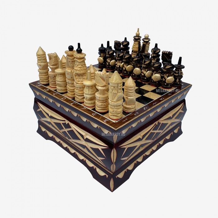 """Chess"""" Casket """" carved"""